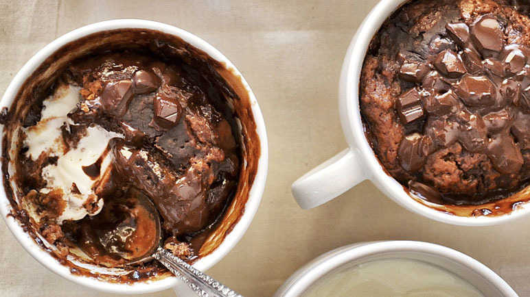 Greek yogurt chocolate puddings
