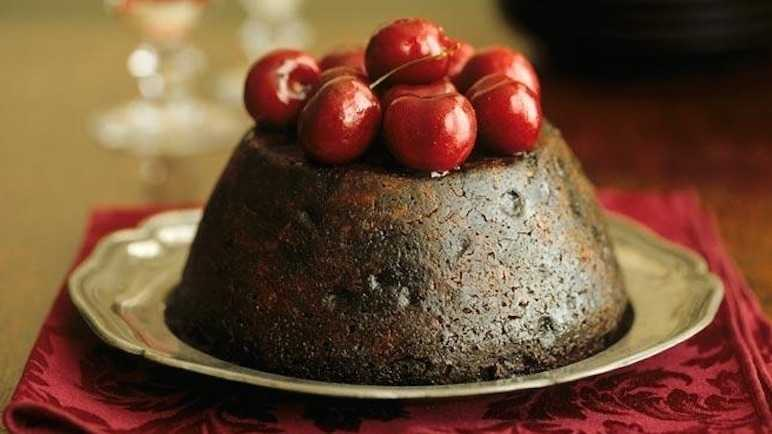Cherry chocolate pudding