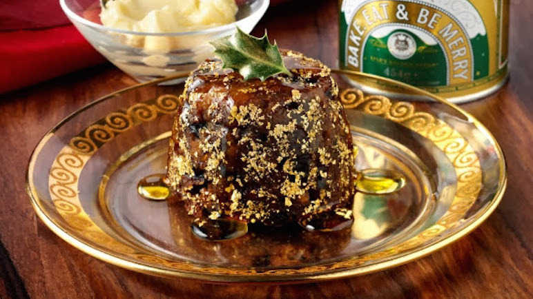 Golden Christmas Puddings