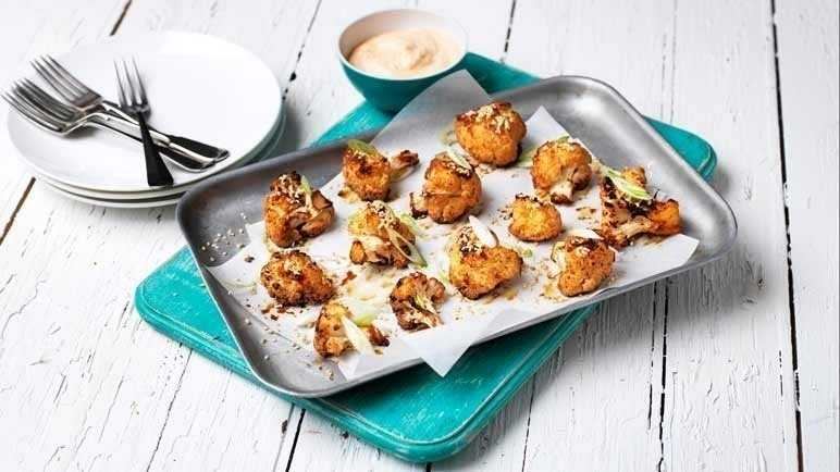 Asian-style cauliflower wings with a chilli dip