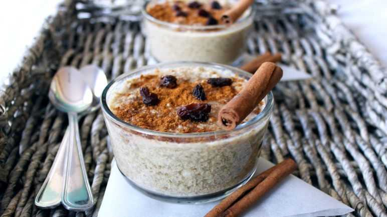 cauliflower rice pudding