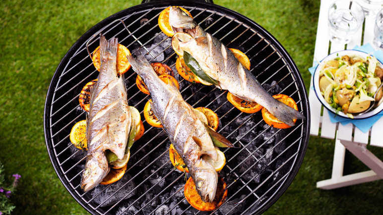 Citrus grilled sea bass