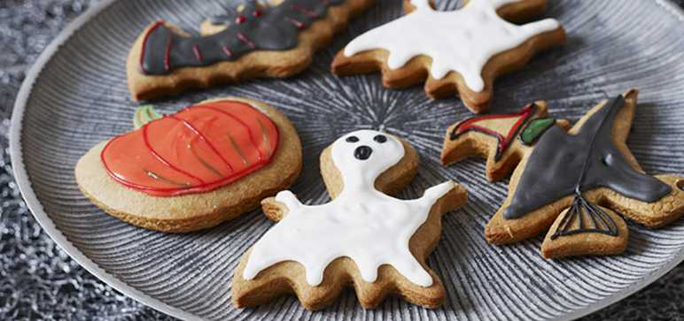 Spooky gingerbread biscuits