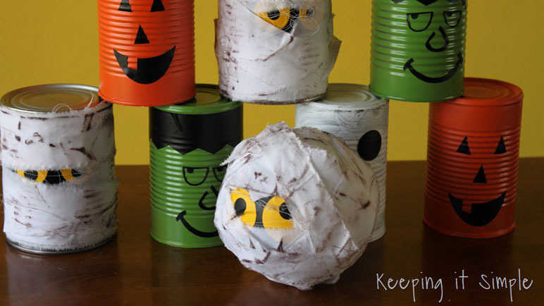 Halloween cans game