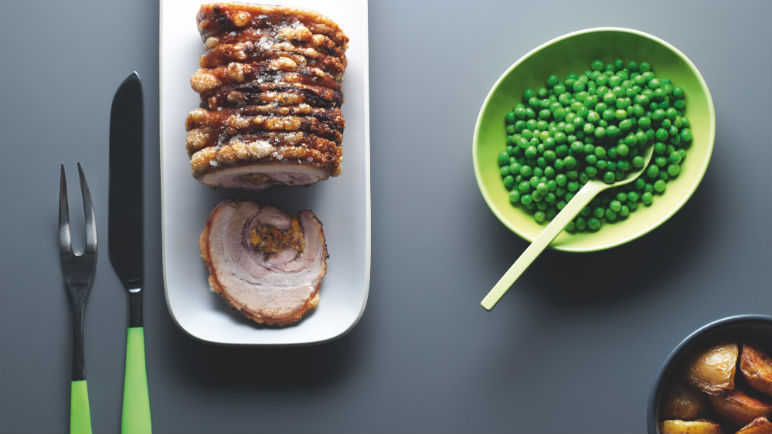 Lorraine Pascale slow and low roast pork belly