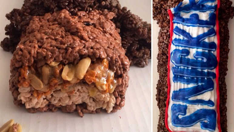 Rice Krispes Snickers Bar