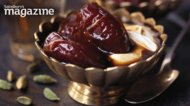 Dates with coffee and cardamom