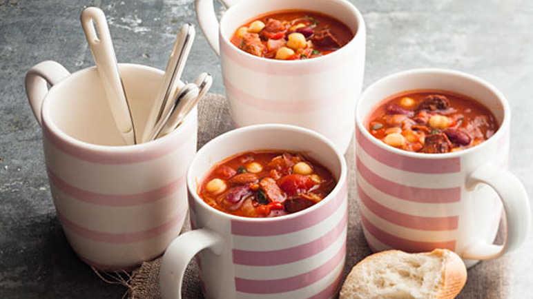 Chunky chorizo soup recipe