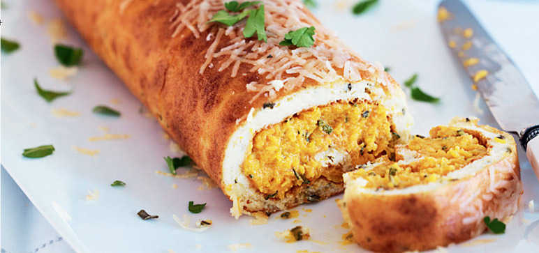 Sage and butternut squash roll