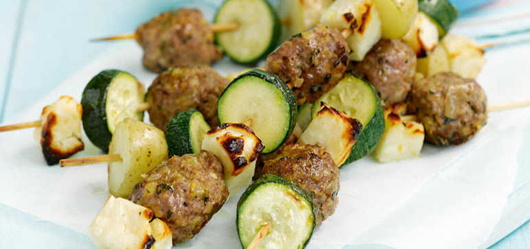Lamb and Halloumi Skewers Recipe