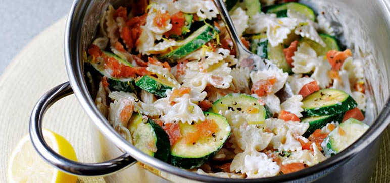 Courgette and Salmon Pasta Recipe