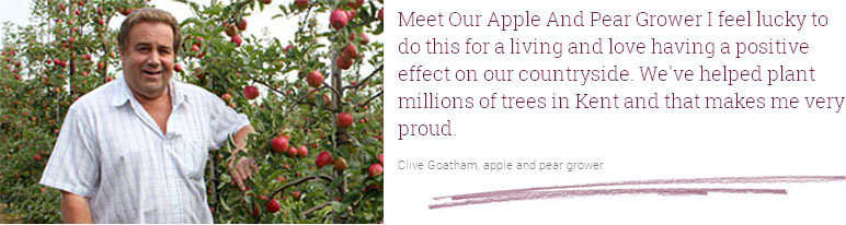 Clive Goatham, apple and pear grower