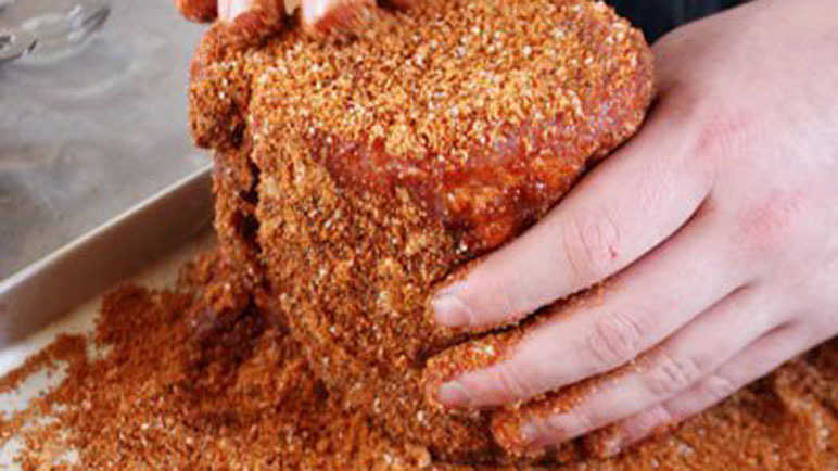 How to make a dry mustard meat rub