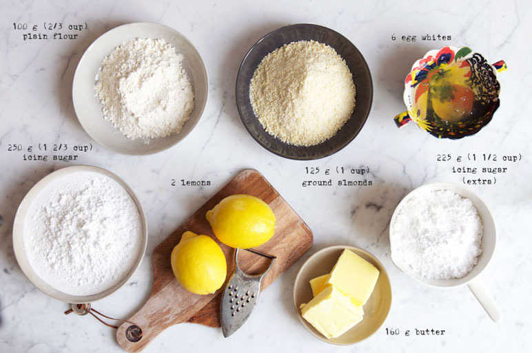Basic ingredients for friands
