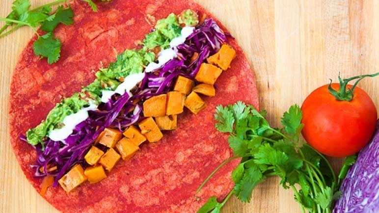 Baked Sweet Potato Tortilla Wrap Recipe