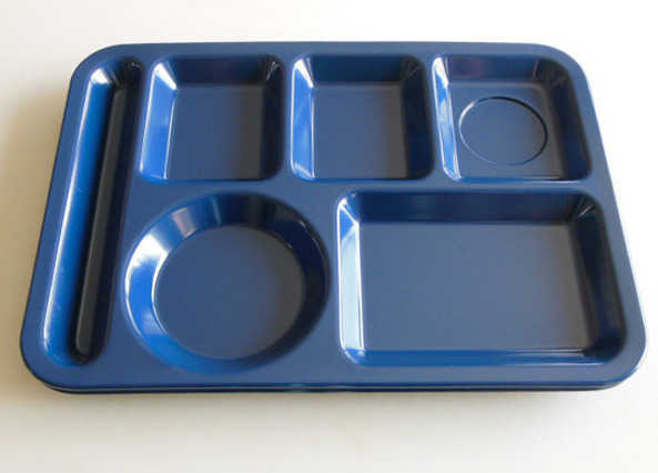 The obligatory plastic dinner tray