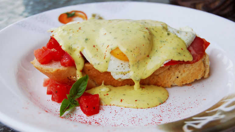 Basil hollandaise