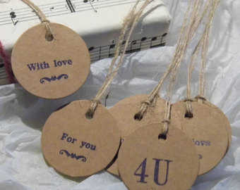 Brown gift labels