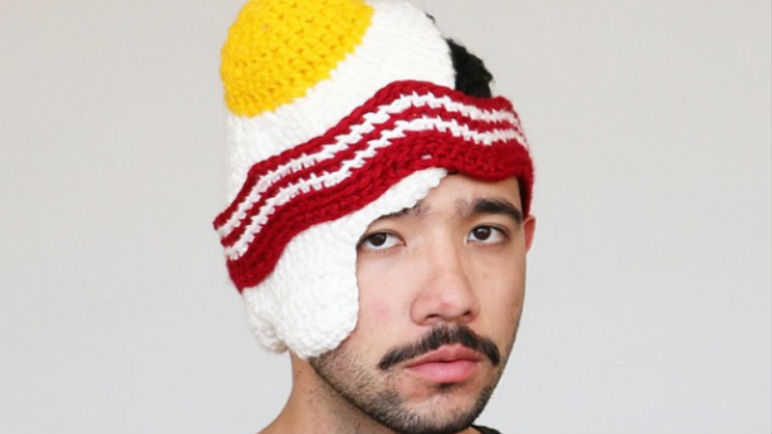 Fried egg hat