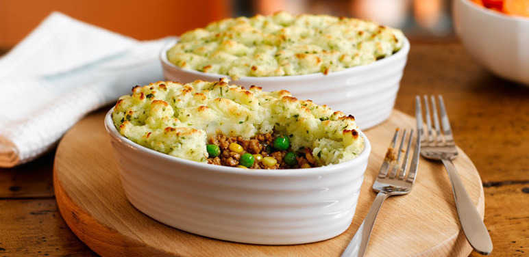 Veggie cottage pies recipe