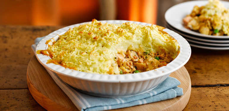 Spicy ginger and chilli fish pie