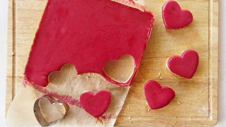 (Heart Shaped) Cranberry Bars