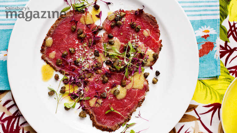 lime and pepper crusted beef carpaccio