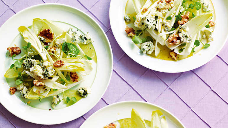 Chicory, watercress and Roquefort salad