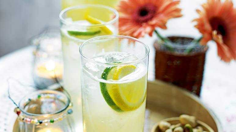 Lime, lemon and ginger refresher