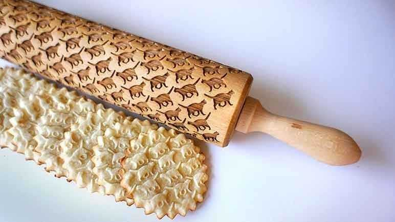 Custom engraved rolling pins