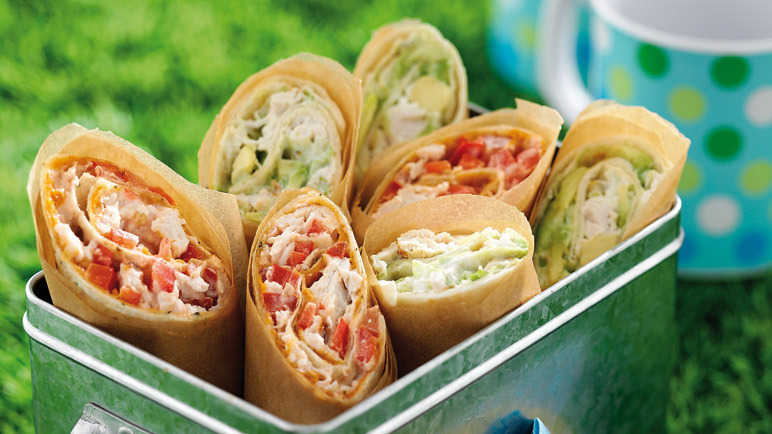 Red and green wraps recipe