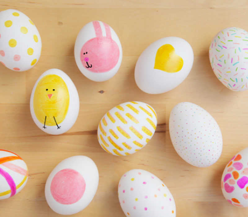 Sharpie eggs