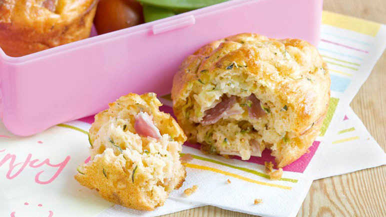 Cheese and ham muffins recipe