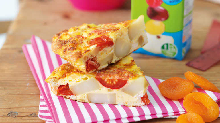 Goats' cheese and tomato frittata