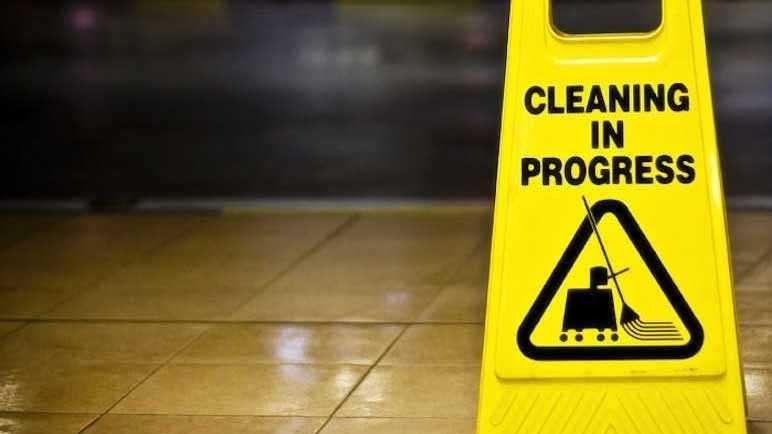 Clean-up sign
