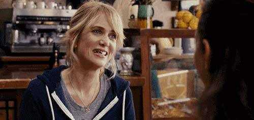 Bridesmaids teeth gif