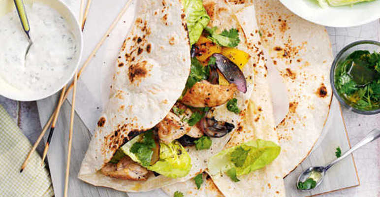 Chicken and lemon kebabs