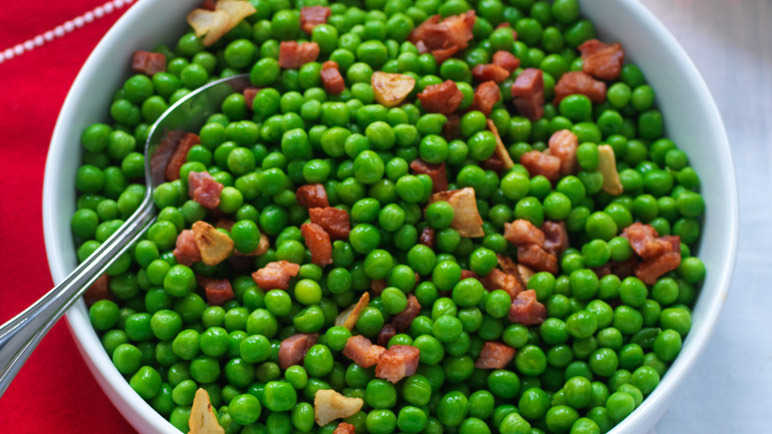Peas with pancetta