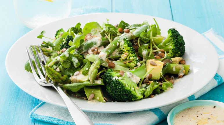 LA-style all-green salad