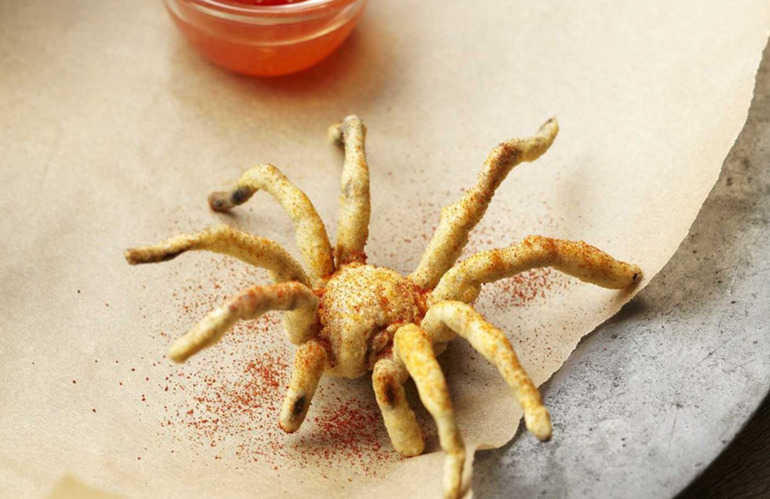 Deep fried spider