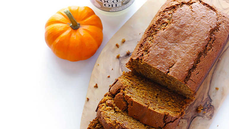 Pumpkin and coconut oil bread