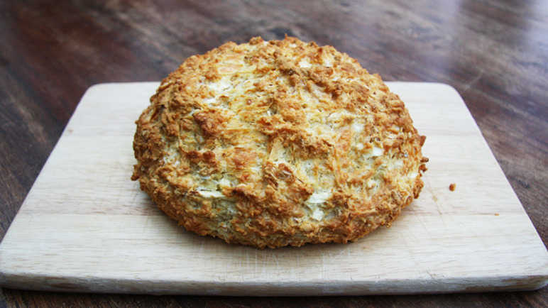 Celeriac and cheddar cheese bread