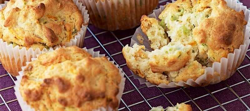 Savoury carrot and courgette muffins