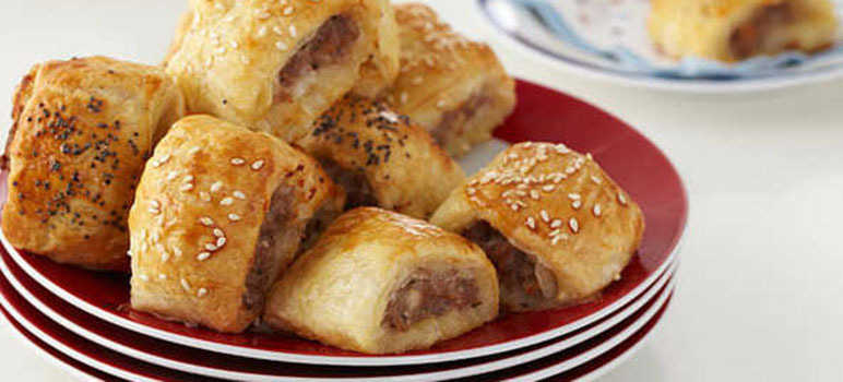 Cheat's sausage rolls