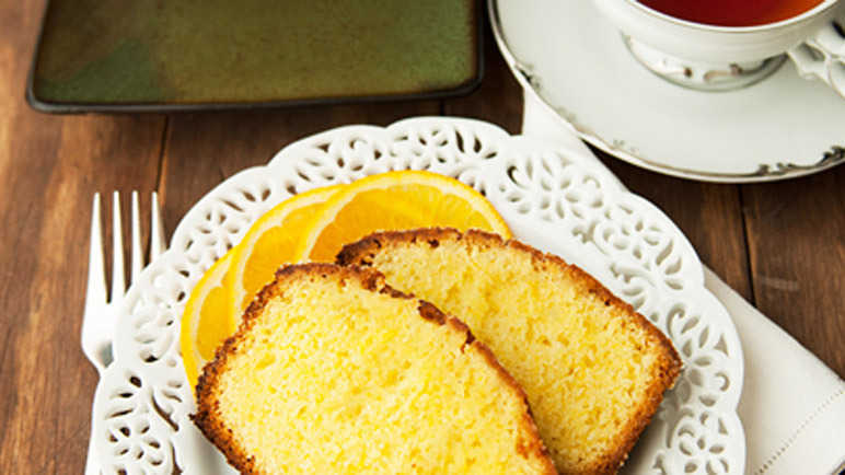Orange juice pound cake