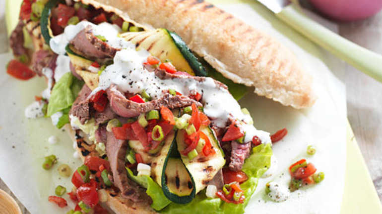 Ultimate barbecued steak sarnie