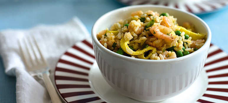 Prawn egg-fried rice