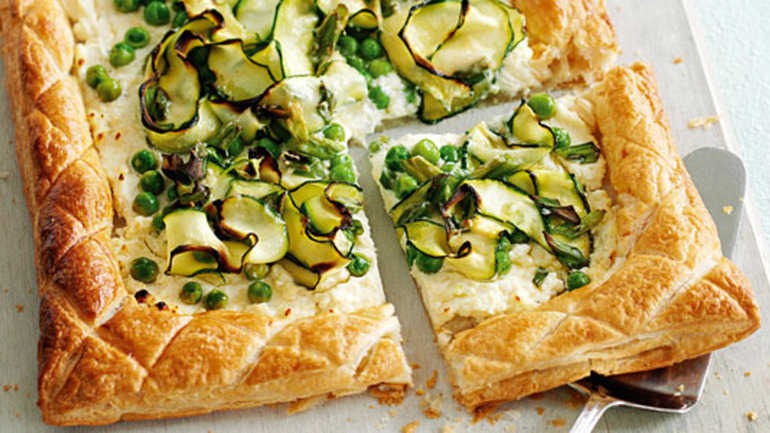 Easy courgette tart