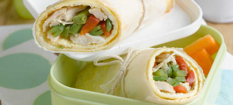 Asian chicken omelette wrap