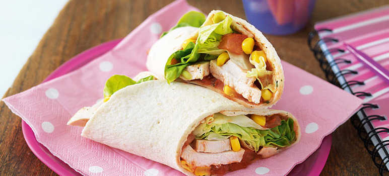 Chicken salsa wrap